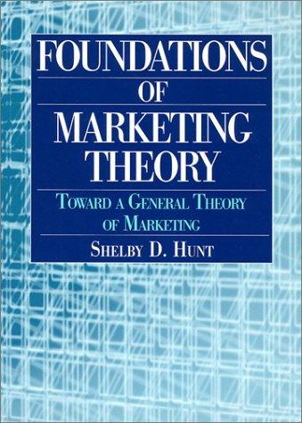 Foundations of Marketing Theory: Toward a General Theory of Marketing