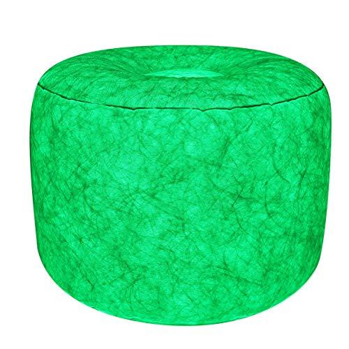 7even LED-Hocker 60cm Durchmesser   individuelle Farbeinstellung   aufblasbares Sessel Kissen inkl. Pumpe + Fernbedienung + Bedienungsanleitung