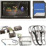 ZENEC Z-N426 Bluetooth USB MP3 DAB+ Autoradio Navigation Naviceiver Smartlink Einbauset für Opel Astra J, Farbe der Radioblende:Platin-Silber
