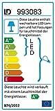 LED Decken Leuchte RGB eckig 30 x 30 cm 4x 3 W LED Spot + 48 x LED Farbwechsel Fernbedienung getrennt schaltbar Glasplatte Spiegel-Platte chrom bunt 1112 Lumen Vergleich