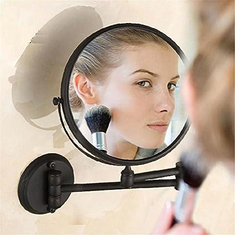Noir Antique modylee 20,3cm miroirs de salle de bain Miroir cosmétique miroir grossissant avec montage mural de salle de bain lumineux miroirs H-52