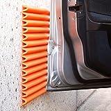 Plaques à Pare-Chocs Muraux Mondaplen: Plaques en Mousse Autoadhésives pour protéger la porte de votre voiture contre le mur du garage. Chaque boîte contient 4 plaques: 44 x 59 cm chacune (Orange)