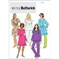 Butterick 5723 Y - Patrones de costura para confeccionar pijamas, camisones y batas para mujer