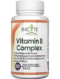 La vitamina de complejo B de alta resistencia - 180 Tabletas Pequeñas de 6mm, garantía