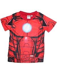 Marvel Avengers T-Shirt Kurzarmshirt (104, Rot)