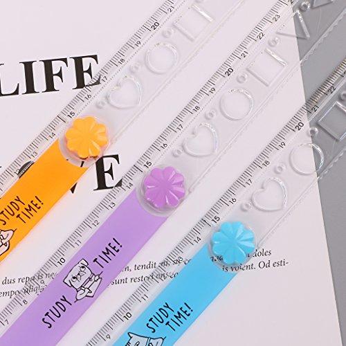 righello in plastica motivo kawaii strumento di misurazione Exing Righello pieghevole da 30/cm