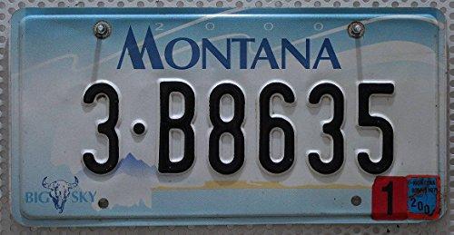 USA Nummernschild MONTANA ~ US Kennzeichen LICENSE PLATE ~ Blechschild Big Sky