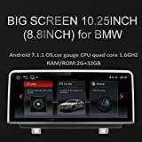 Freeauto für BMW 3er F30 F31 F34 Android 10,25 Zoll Auto Media Player Auto Auto GPS Navigation Unterstützung Rückfahrkamera, Reverse Radar, Reverse Trajektorie DVR WIFI Spiegel Link