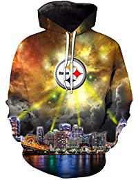 Fashion 3D Sudaderas con Capucha Estampada Sudadera Jersey de Pittsburgh Steelers gráficos Sudaderas con Capucha con