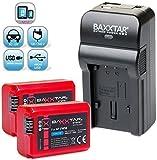 Baxxtar RAZER 600 II Ladegerät+2x Baxxtar Akku für Sony Alpha 7, Alpha 5000, Alpha 600