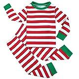 51649cf1b8 Fancyinn Niño Niña Navidad A Rayas Conjunto de Pijamas Camiseta y  Pantalones Algodón Ropa de dormirpor 1-7 años Rojo 150