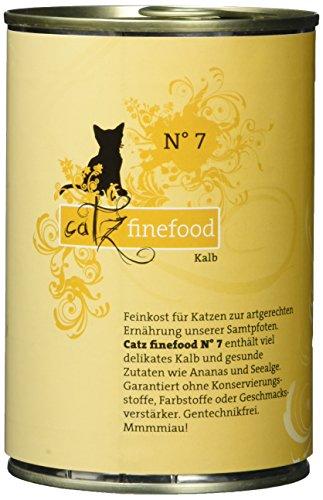 Catz finefood Katzenfutter No.7 Kalb 400g, 6er Pack (6 x 400 g)
