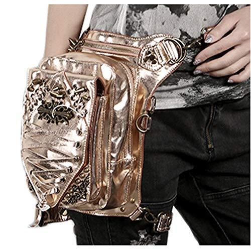 Bolso para cintura dorado