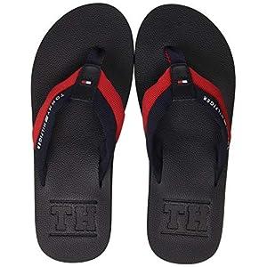 Tommy Hilfiger Herren Embossed Th Beach Sandal Zehentrenner