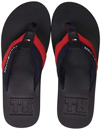 Tommy Hilfiger Embossed TH Beach Sandal, Infradito Uomo, Blu (Midnight 403), 41 EU