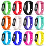 OPUSS Fitness-Armband aus Silikon-Gel mit digitalem LCD-Bildschirm