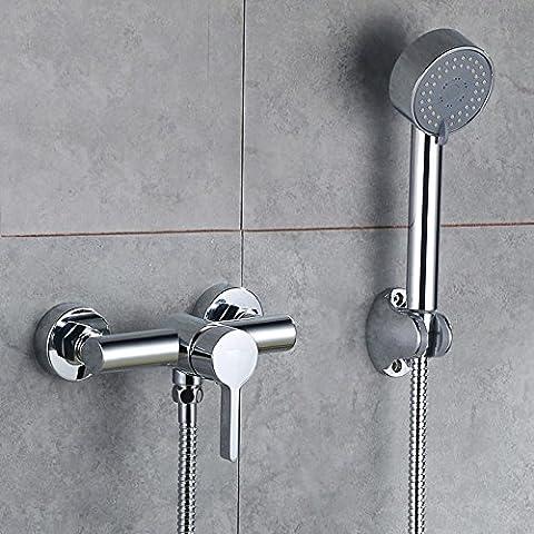 Ottone multi-funzione doccia montato su rubinetto doccia semplice set doccia
