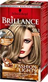 Brillance Intensiv-Color-Creme, 913 Honigblond Balayage Fashion Lights, 3er Pack (3 x 113 ml)