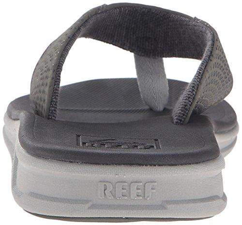 Reef Herren Rover Sandalen, Schwarz, Talla única grau / anthrazit