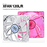 Deepcool XFAN 120L/R 120mm Transparent Cooling Fan with Red LED (Red)