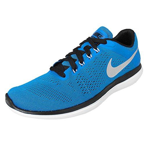 Nike Flex Run, Running Homme, 42 EU Azul (Pht Blue / Mtllc Slvr-Blk-White)