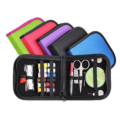 mit Zubehör komplettes Nähzeug Premium Nähzubehör für Anfänger Mini Nähkästchen Koffersatz für Haus, Reisen Camping und Notfall-Premium-Sew (zufällige Farbe) ()