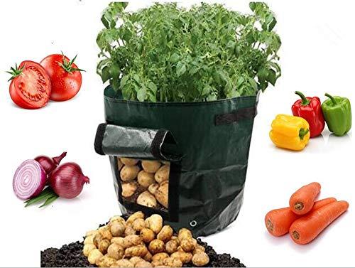 smart sisi Lot de 2 pommes de terre cultiver Sacs Sacs de plantation Grow Légumes plantation semis Sacs pour jardin ou balcon 10 Gallons