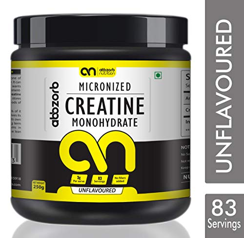 Abbzorb Nutrition Micronised Creatine Monohydrate -250 g