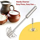 Kitchen Khajana™ Stainless Steel Hand Push Whisk Blender RAWAI SS