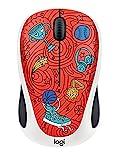 Logitech M238 Doodle Collection Mouse Wireless con 15 Adesivi Premium, Durata delle Batterie di 12 Mesi, Champion Coral