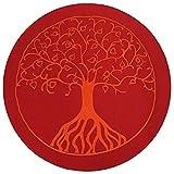 maylow - Yoga mit Herz Meditationskissen - Yogakissen mit Stickerei Baum des Lebens 33 x 15 cm - Bio-Dinkelspelz Premium - Bezug, Inlett und Dinkelspelz sind waschbar