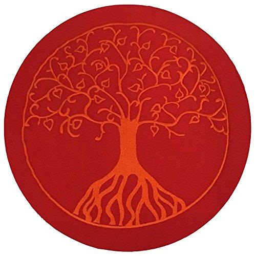Maylow Yoga a1621r01 Coussin de méditation Arbre de vie, 33x 16cm