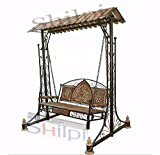 #5: Shilpi Iron & Wooden Swings / Jhoola for Home & Garden Floor-Standing