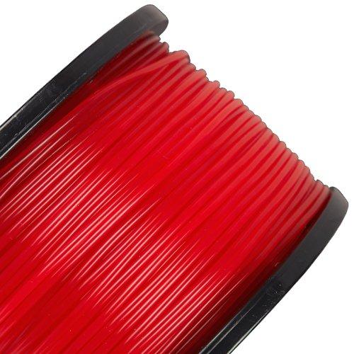 rigid.ink–zuverlässiges, reines PLA-Filament, 1,75mm und 2,85mm (3mm), 3D Filament, 1.75mm - 1KG, Rot (Translucent Red)