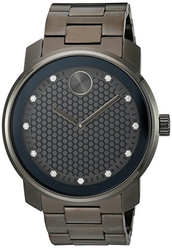 Movado Men's Swiss Quartz and Stainless-Steel-Plated Casual Watch, Color:Grey (Model: 3600375)