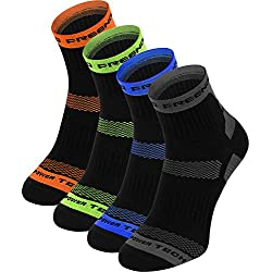 Thermoactive calcetines – 4 pares – Running, ciclismo, color gris, tamaño 43-46