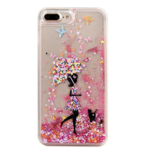Ouneed® For iPhone 7 Plus Hülle, Glitter Powder Quicksand Star Solid Back Case Cover für iPhone 7 Plus 5.5 Zoll (5.5 Zoll, A) B