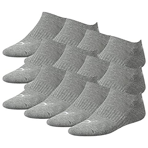PUMA Unisex SpeedCat Sneakers Socken Sportsocken MIT FROTTEESOHLE 12er Pack middle grey melange 758 - 39/42