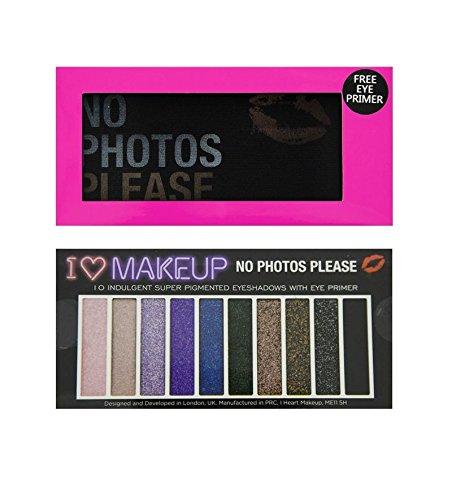Makeup Revolution I Heart Makeup Mini Palette Eyeshadow Palette No Photos Please 9g (10 colours)