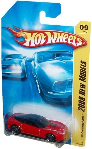 Mattel Hot Wheels 2008 New Models Series 1:64 Scale Die Cast Metal Car # 9 of 40 - Red Luxury Sport Coupe 2009 Chevy Corvette ZR1 by Hot