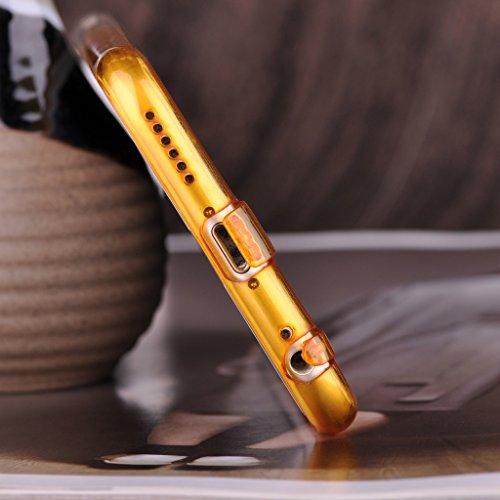 Infinite U Jewellery Dégradé Transparent Souple TPU Gel Case/Coque/Etui de Téléphone Mobile pour iPhone 6/6s (4.7 Pouces) Femme Jaune