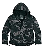 Surplus Herren Windbreaker Zipper, blackcamo, L