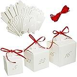 alles-meine.de GmbH Weihnachtskalender - 24 Geschenktüten / Adventstütchen -  Aufhängen + Hinstellen - 3 Größen  - zum Befüllen - selber Basteln - Adventskalender - Tüten / Säc..