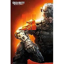 """Póster Call of Duty/Llamado del Deber Black Ops III """"Soldier/Soldado"""" (61cm x 91,5cm) + 2 marcos transparentes con suspención"""