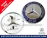 Used, MERCEDES FLAT BONNET BADGE A-B-C-CLC-CLK-CLS-E-GL-ML-R-S-SL-SLK for sale  Delivered anywhere in Ireland