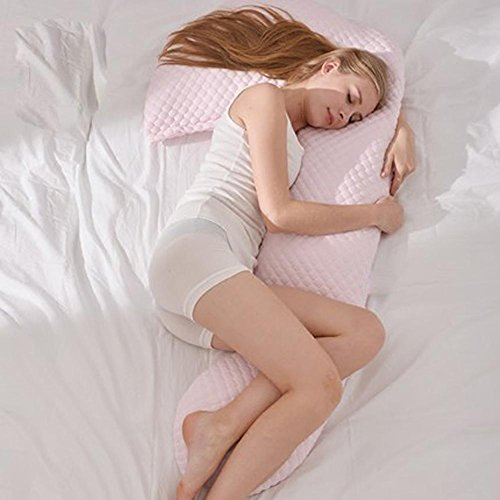 Le donne incinte cuscino proteggere le memorie mobili vita multi-funzione di sostegno U - tipo di cuscino , pink