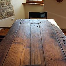 Tisch Aus Alter Tür esstisch aus alter kastanienholz tuer handgefertigt amazon de
