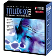 Title Deko Pro 1.1 for Avid / Speedrazor / Xpri