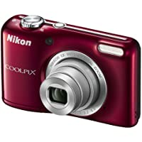 Nikon Coolpix L27 Digitale Kompaktkamera (16,1 Megapixel, Display 2,7 Zoll) Display, 5-fach opt. Zoom, Rot