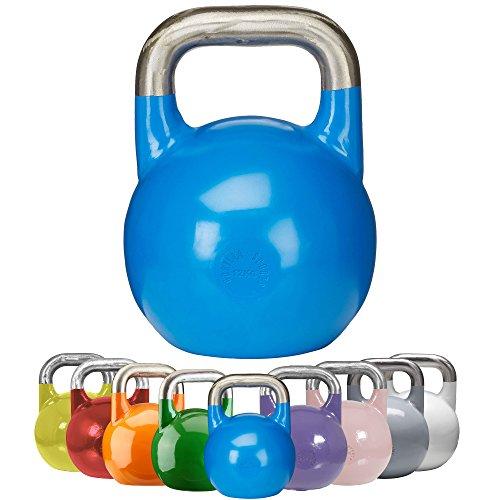 GORILLA SPORTS® Kettlebell Competition 12 kg Stahl Blau - Wettkampf Kugelhantel